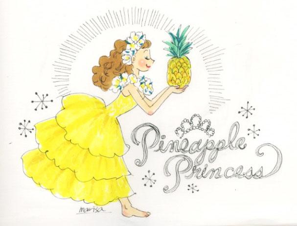 フラ衣装:パイナップルプリンセス(Pineapple Princess)