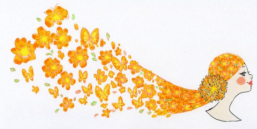 オレンジスカーフ(小)