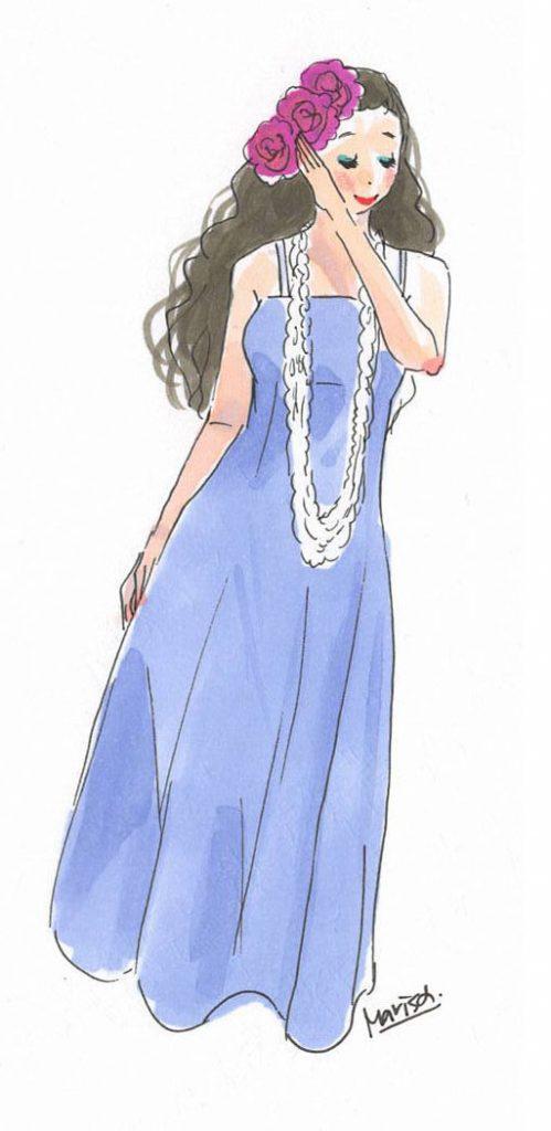 フラ・ドレスの裾を踏まないで踊る方法。