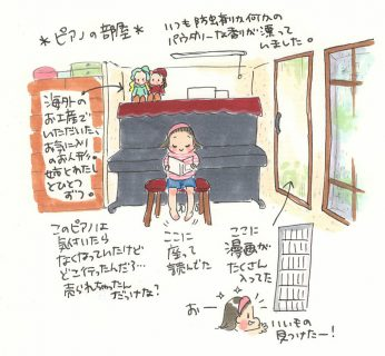 「みつはしちかこ展」チッチとサリーとピアノの部屋の話。