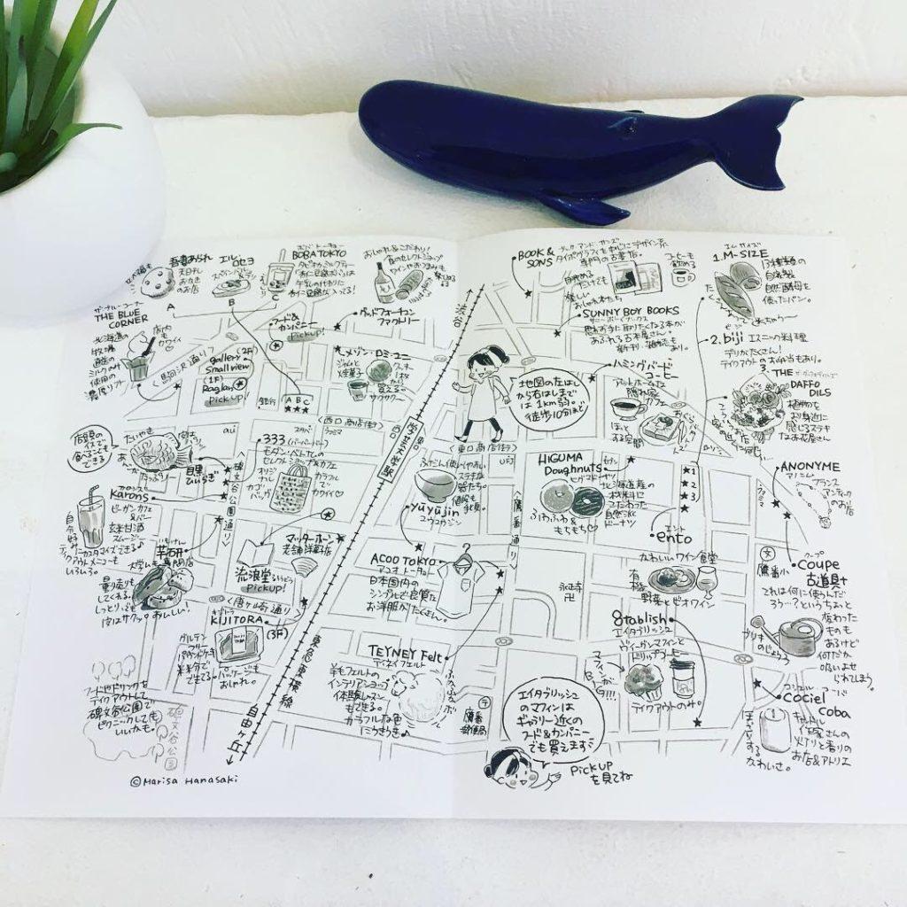 学芸大学駅のイラスト地図おさんぽマップ
