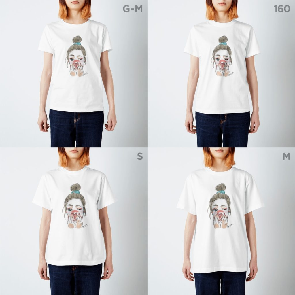 イラストプリントTシャツ