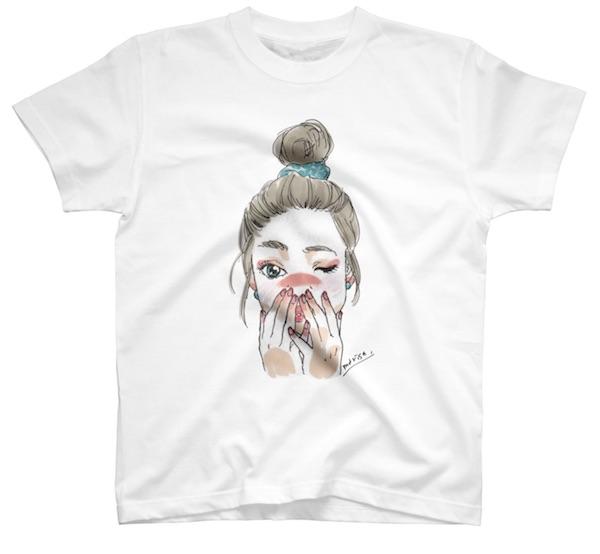 おしゃれなオリジナルデザインのイラストプリントTシャツ