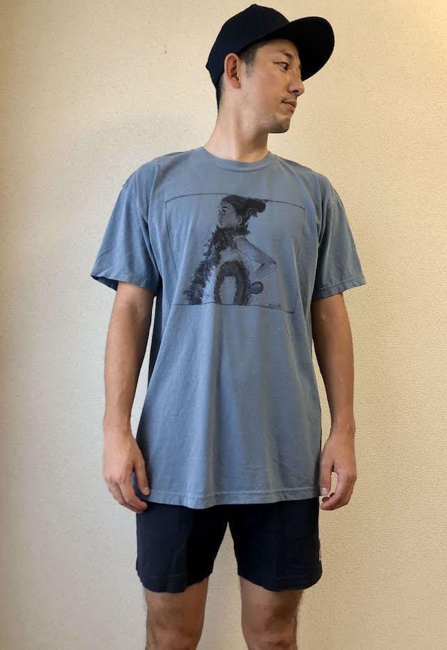 メンズイラストTシャツのコーデ